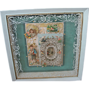 Victorian-Style 3D/High-Relief Vintage Valentines Framed Shadow Box