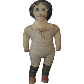 1899 Cloth Advertising Doll - Miss Flaked Rice - Printed Fabric Doll