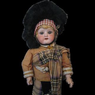"Heubach Koppelsdorf Doll - Scottish Attire - 12"" - Mold 250 - Jointed Body"
