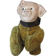 "Horsman ""Pippin Puppy""/ Dog - 1911 - Side Glancing Googly Eyes - With Sewn On Tag -"