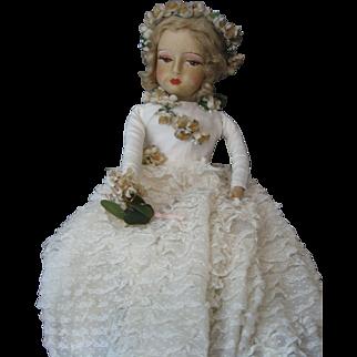 "Boudoir Doll - Blossom - Late 1920's  - 28""  Gorgeous!"