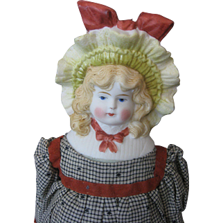 Bonnet Head Antique China Doll - Germany - Circa 1900's - Marked: 0 - Cabinet Size