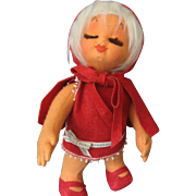Little Red Riding Hood Cloth/Felt Doll by Loy of Spain -Unique!!
