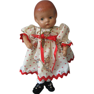 "Vintage Effanbee *Patsyette"" Doll With Metal Tag Circa 1930's"