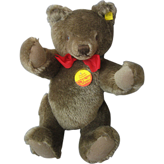 """Steiff Original Teddy Bear #0202/36 New Condition - Fully Articulated - 12"""" - With Tags - Sweet!"""