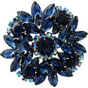 Juliana D&E Bermuda Blue Layered Brooch
