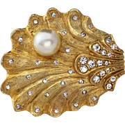 Benedikt NY© Shell with Faux Pearl and Rhinestones
