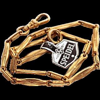 Watch Chain, Bi-Metal, Speidel Brand with Tag