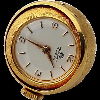 Swiss Jeweler Bucherer Vintage Pendant Ball Watch 1960s