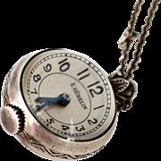 E Gubelin Pendant Watch, Enclased in a Glass Orb, 1920s