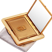 Christian Dior Vintage Gilt Compact and Mirror