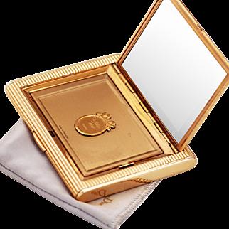 Christian Dior Vintage Gilt Compact and Mirror