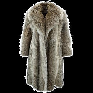 Vintage Pierre Cardin Paris New York Boutique Fox Fur Coat for Lloyds