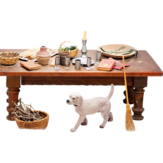 British King Henry's Court Table and Accessories