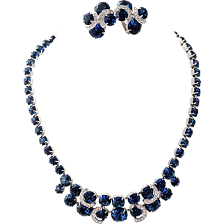 Blue Sapphire Eisenberg Ice Demi, Stunning Earrings and Necklace