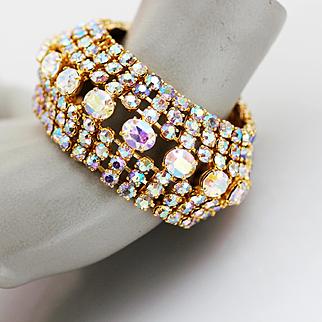 Huge-AB-Rhinestone-Bracelet-from-Ambassador-Hotel-LA-1950s-Glamour