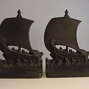Antique Bradley & Hubbard Viking Ship  Bookends (Pair)