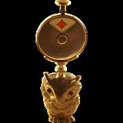 Antique English Figural Hoot Owl Trumps Marker - 1905