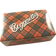 Fabulous Antique Tartan Ware Cigarette Box - McLean