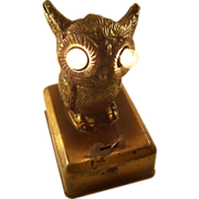 Cunning Owl Pocket Watch Holder & Night Light - early 20th century