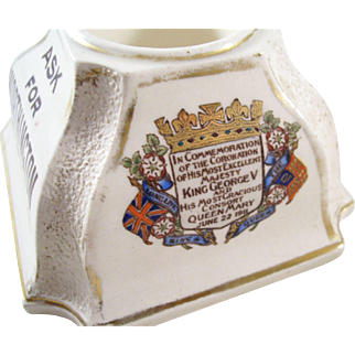 Advertising Piece - Worthington Matchstrike - Coronation Souvenir, 1911