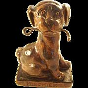 Charming Figural Pocket Watch Holder - Mischievous Dog