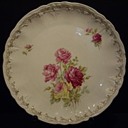 German plate 12 inches with pink roses