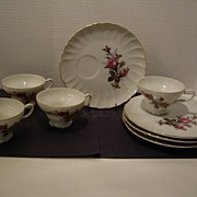 Desert or Snack Cup and Plate -  Set of Four