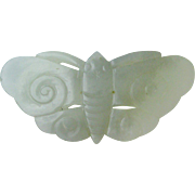 An old Chinese celadon butterfly jade