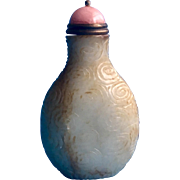 An old Chinese jade snuff bottle