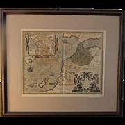 ABRAHAM ORTELIUS 1596 MAP
