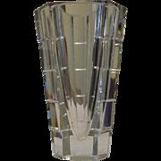 HEAVY GLASS ORREFORS VASE