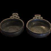 Antique American Pewter Porringers
