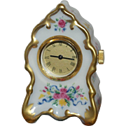 Miniature French Porcelain Clock