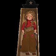 "1936 27"" Shirley Temple Texas Ranger - orig. shipping box"