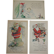 1920's Santa ClausChristmas Post Cards by Gibson