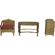 Tootsietoy Furniture Set