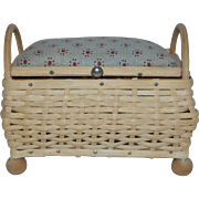 Miniature German Sewing Basket / Bench Seat