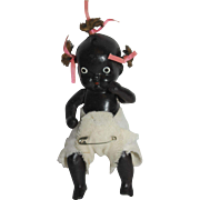 Bisque Black Baby Doll - marked Japan