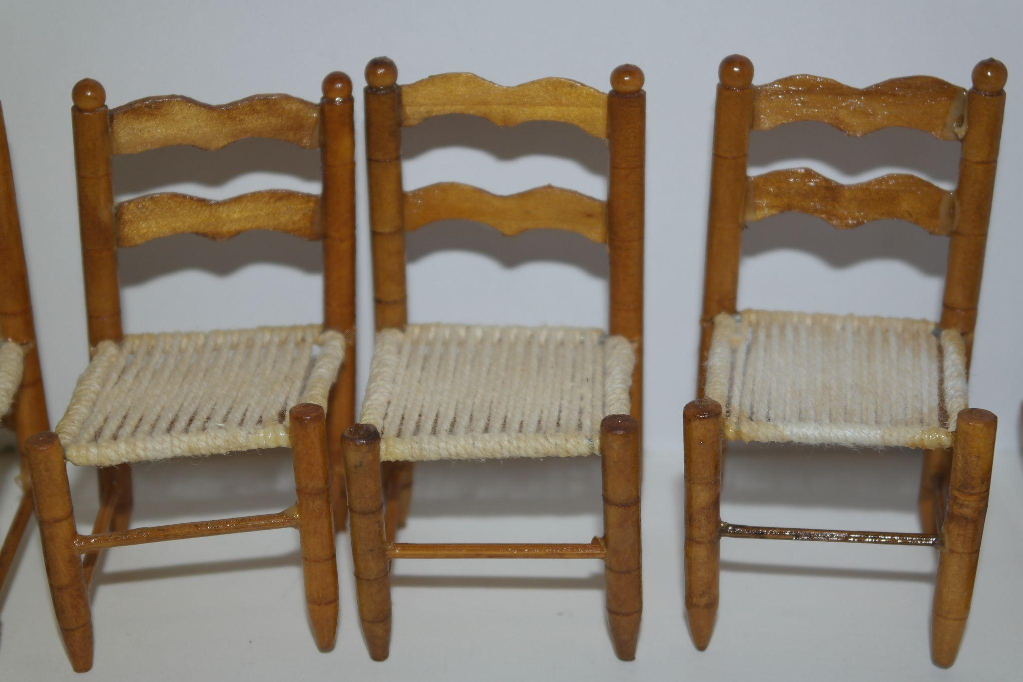 Superb img of Wooden Doll House Chairs with Woven Seats from debscedarchest on Ruby  with #684421 color and 2048x1365 pixels