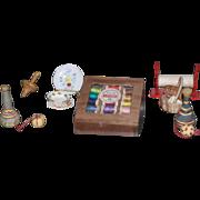 Walnut Thread Box for German General Store or Dollhouse - artist made