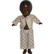 """1940's Black Pasty-Type doll - 9"""" Composition"""