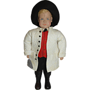 Vintage German Hand Carved Doll by Sophie Schmid  - Male Doll