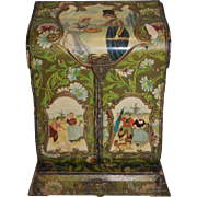 Victorian Upright Vanity Box - Dutch Scene