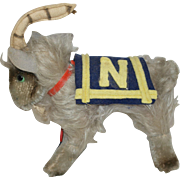Clemens German Mohair Goat - Naval Academy Mascot Bill the Goat