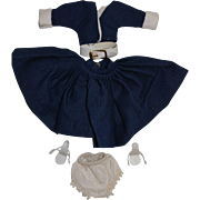 1950's Little Miss Ginger Blue Outfit