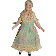 German Celluloid Doll House Doll - Helmet mark