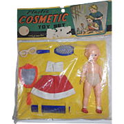 1960's Plastic Cosmetic Toy Set - orig. packaging