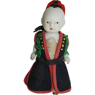 All Bisque Asian Doll - Petite 3 1/2""