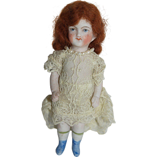 Red Headed All Bisque German doll - Petite 5""
